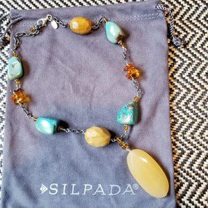 Silpada Sterling Silver Turquoise Jasper Necklace
